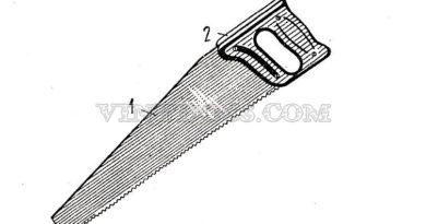 Ножовка по дереву широкая