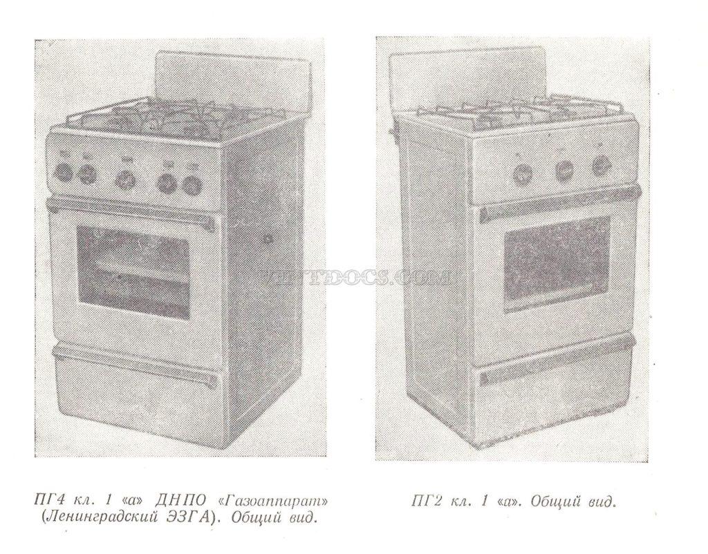 Газовые плиты ПГ4 и ПГ2 кл. 1а