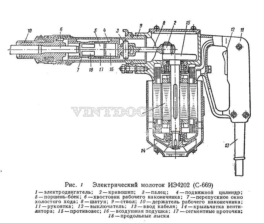 Схема электромолотки