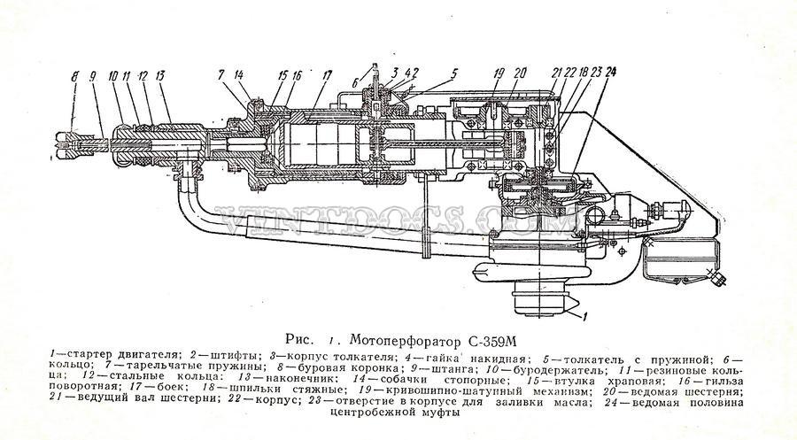 Схема мотоперфоратор С-359