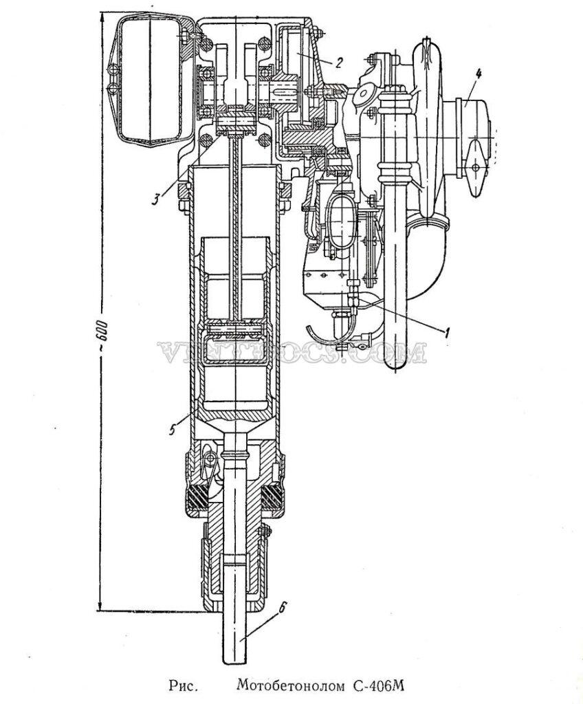 Схема мотобетонолом С-406М